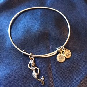 Alex & Ani Silver mermaid bangle